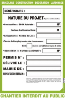 Informations et recommandations travaux divers for Autorisation de construction